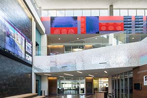 Lobby of the Community Engagement Center at UNO